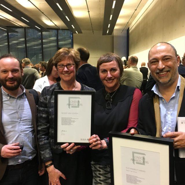 Two RIBA Awards for Regent High School